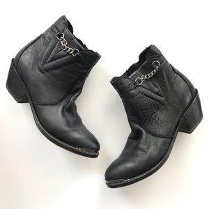 Durango black chain grunge steel toe booties